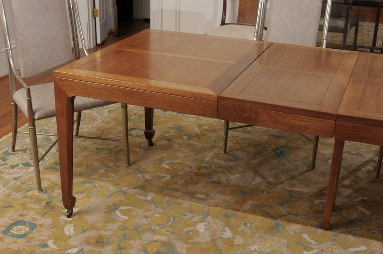 Breathtaking Red Vintage Extension Dining Table In Walnut By Baker