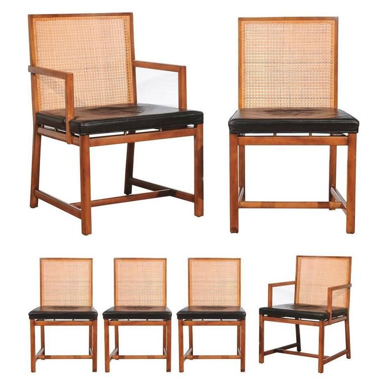 Fabulous Rare Surviving Set Of Six Coveted Cane Dining Chairs By Michael Taylor For Baker Ncnpc Chair Design For Home Ncnpcorg
