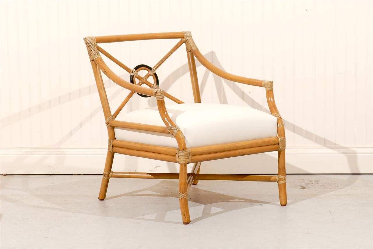 Beautiful Pair Of Vintage Bamboo Target Back Lounge Chairs By Mcguire Tomrobinsonmodern