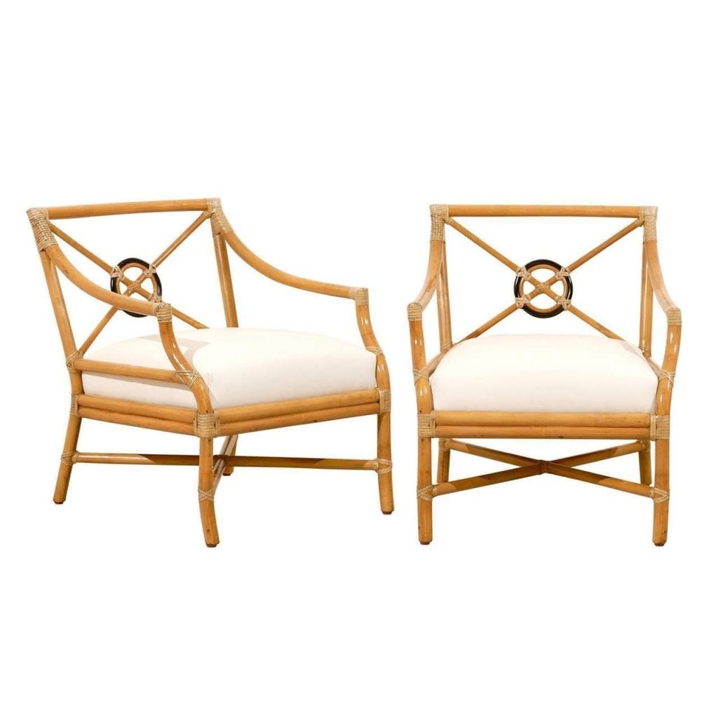 ... Target Back Lounge Chairs by McGuire. abp_061820150592222_Custom_l  sc 1 st  Tom Robinson Modern & Beautiful Pair of Vintage Bamboo Target Back Lounge Chairs by ...