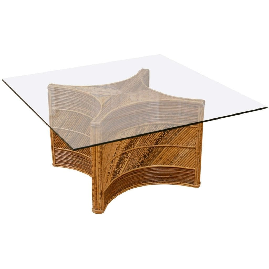Vintage Bamboo Coffee Table X