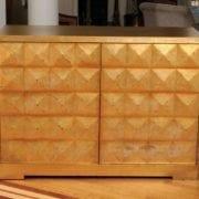 Elegant Custom Diamond Cabinet By Barbara Barry For Baker