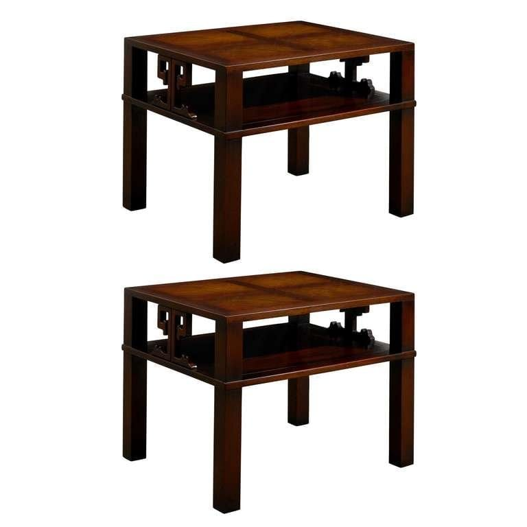 Heritage Henredon End Table Night Stands In Flame Mahogany Abp 12192017436555 Custom L